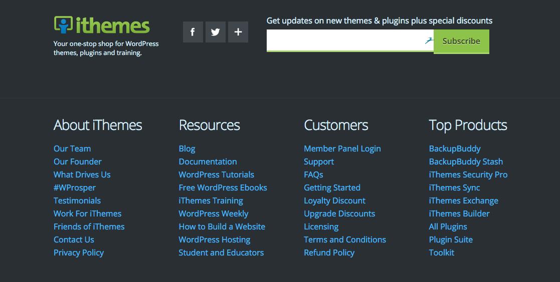 Revamp WordPress Footer