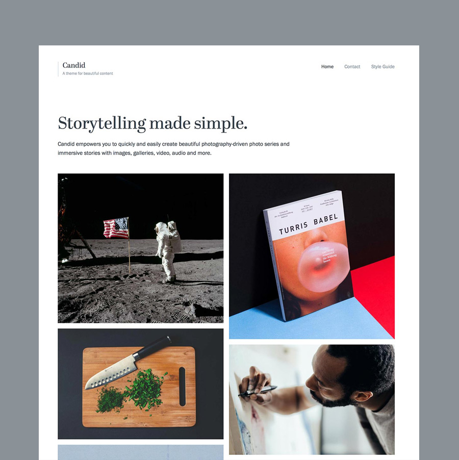Candid WordPress Theme Homepage