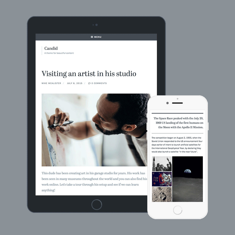 Candid WordPress Theme Responsive