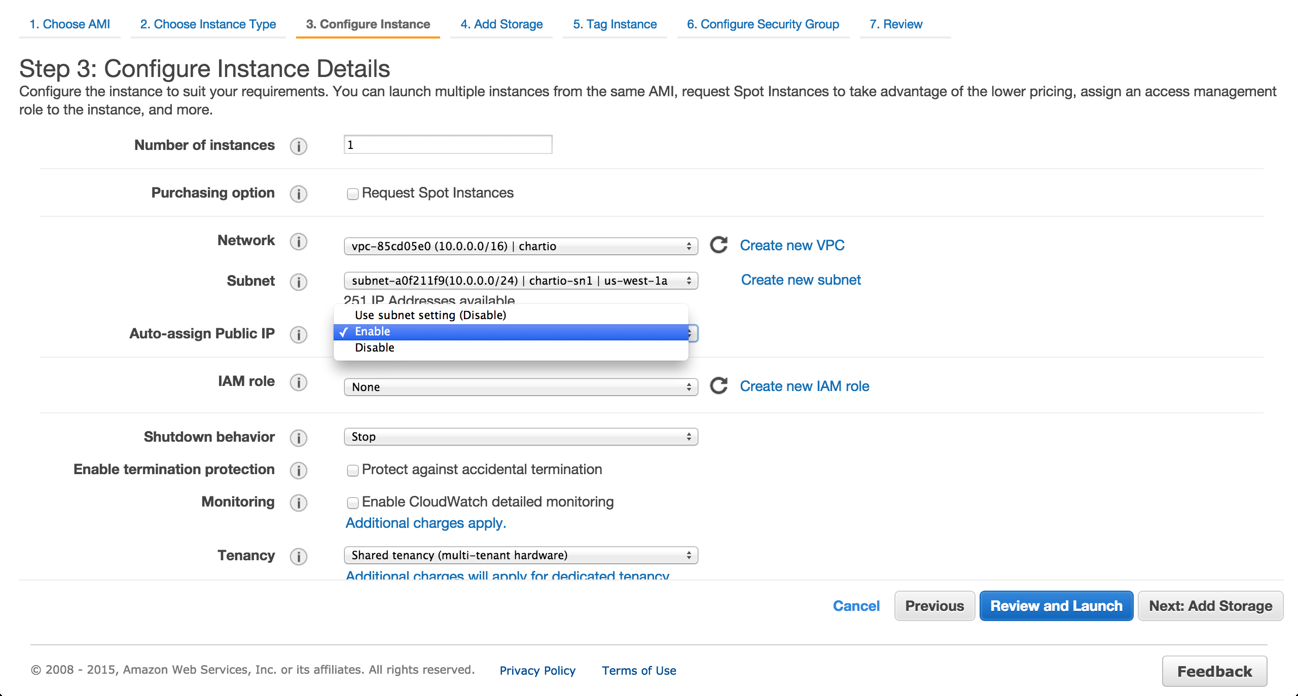 Provision an EC2 instance.