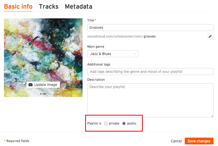 Changing your playlist's privacy setting – SoundCloud Help