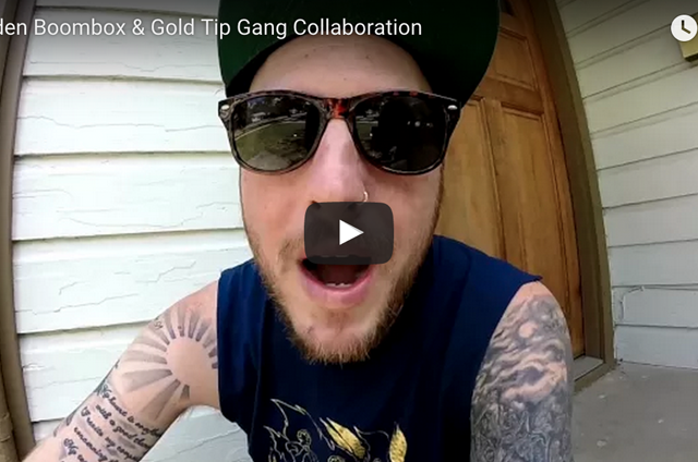 Wooden Boombox & Gold Tip Gang Collab