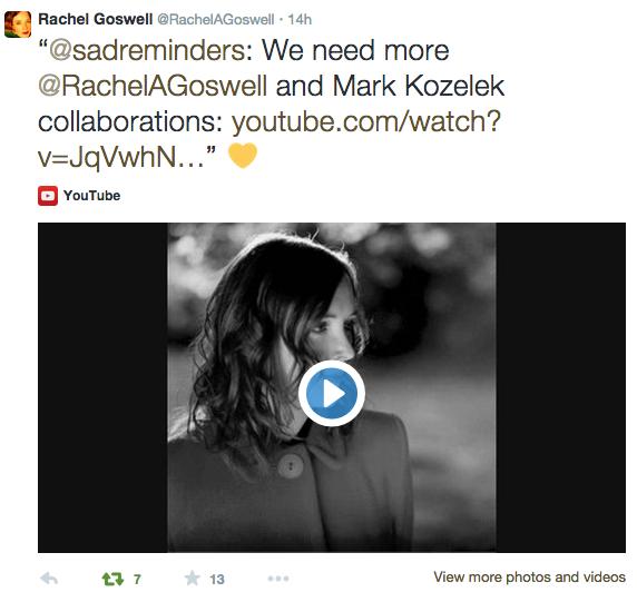 Rachel on Twitter