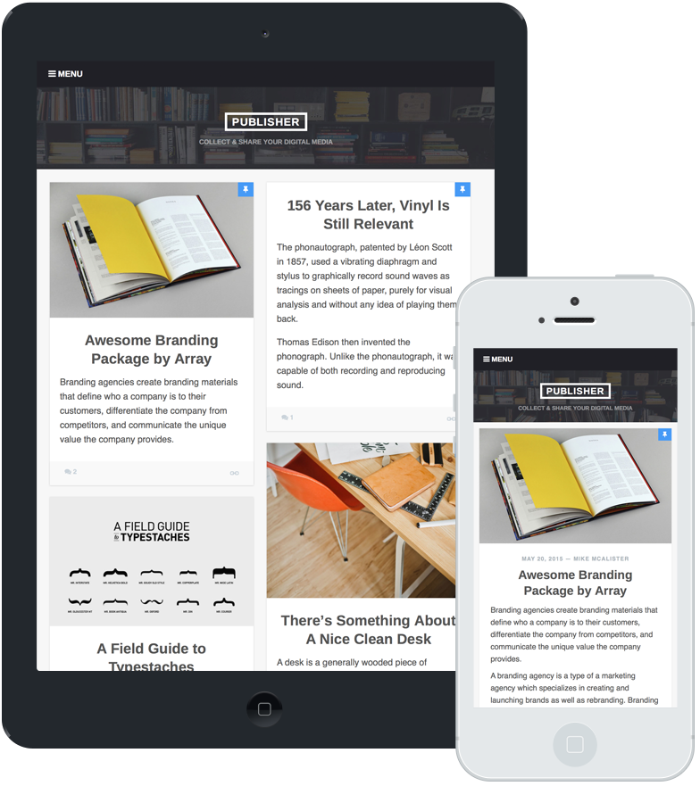 Publisher Mobile Design
