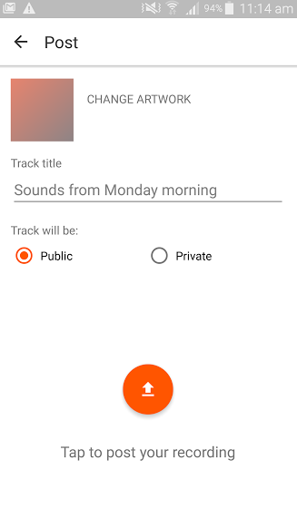 Recording with the Android app – SoundCloud Help Center