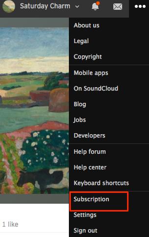 Your subscription and payment details for SoundCloud Go