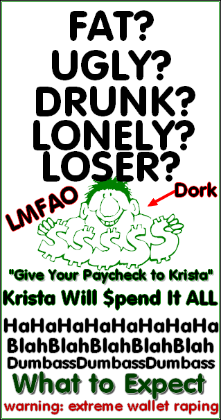 Give Your Fat Wallet to Krista!
