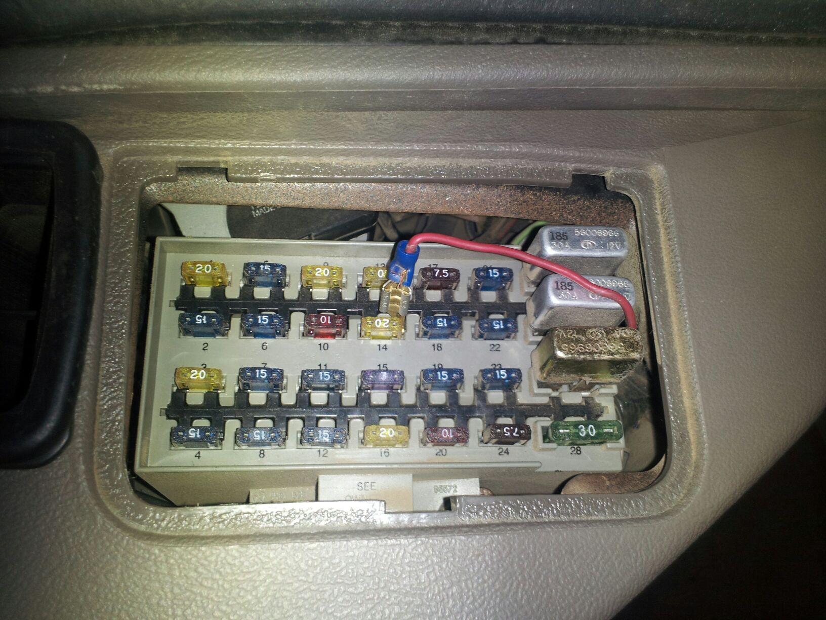Fuses on 1995 Jeep Cherokee Fuse Box Diagram