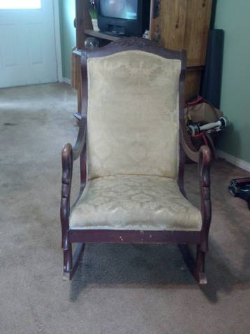 I Have An Antique Gooseneck Rocking Chair That Was Handled