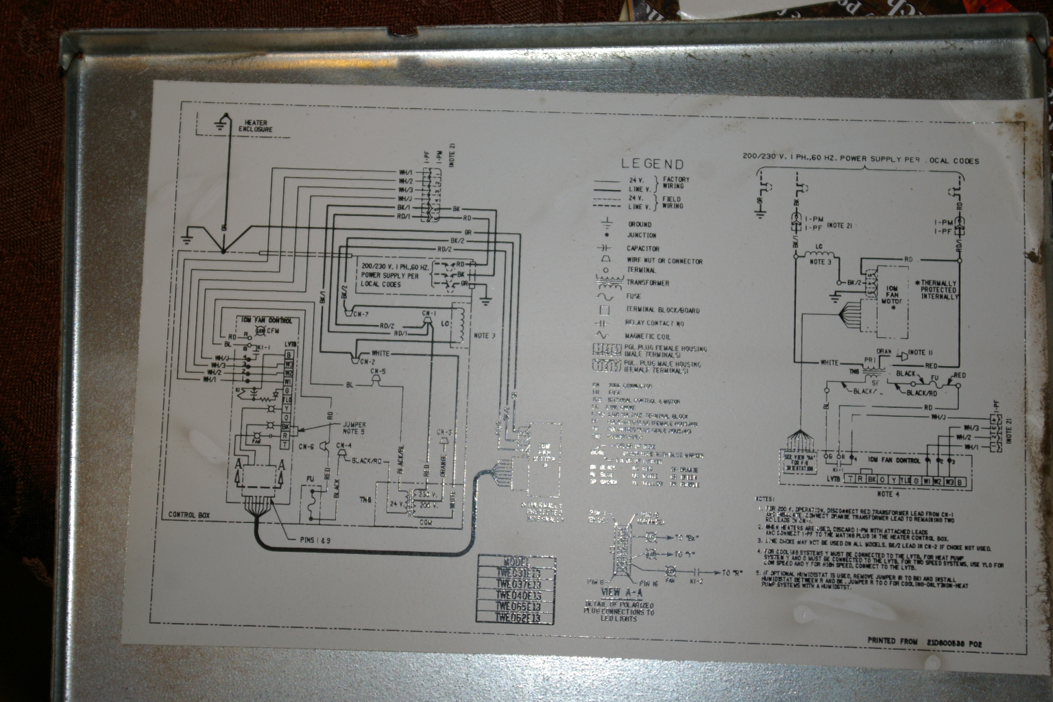 Lennox Air Handler Wiring Diagram Will Be A Thing Diagrams Trane Split System Get Free Image About Old Furnace Heat Pump
