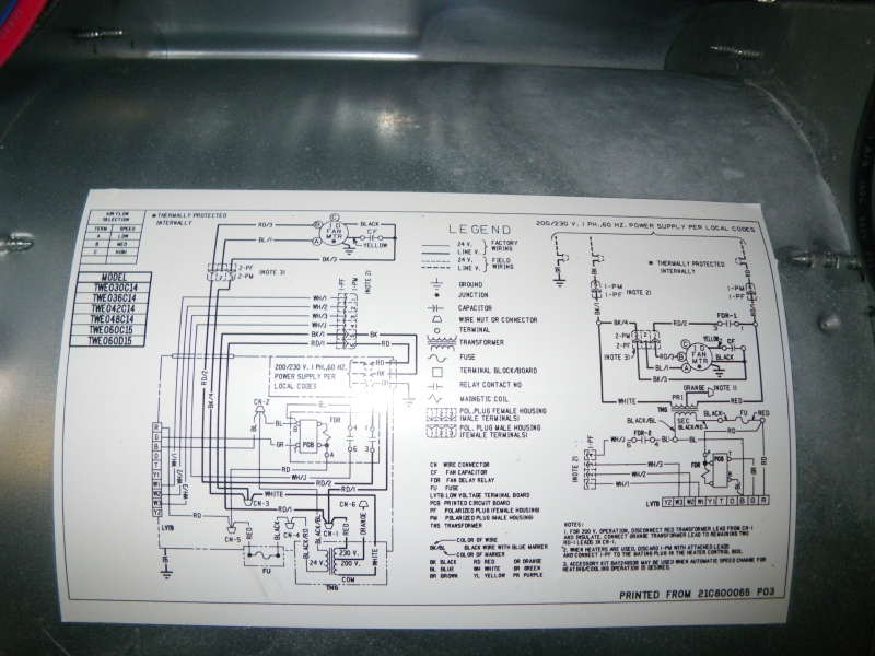 Air Handler Wiring Diagram Goodman Air Handler Wiring Diagram & Gibson air handler wiring diagram