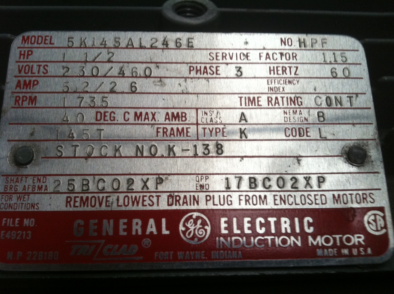 Name Platw 480 Motor Wiring Diagram Basic Guide 12 Lead 3 Phase On Ev Ac I Purchased A Ge Ebay And It Has Come With No