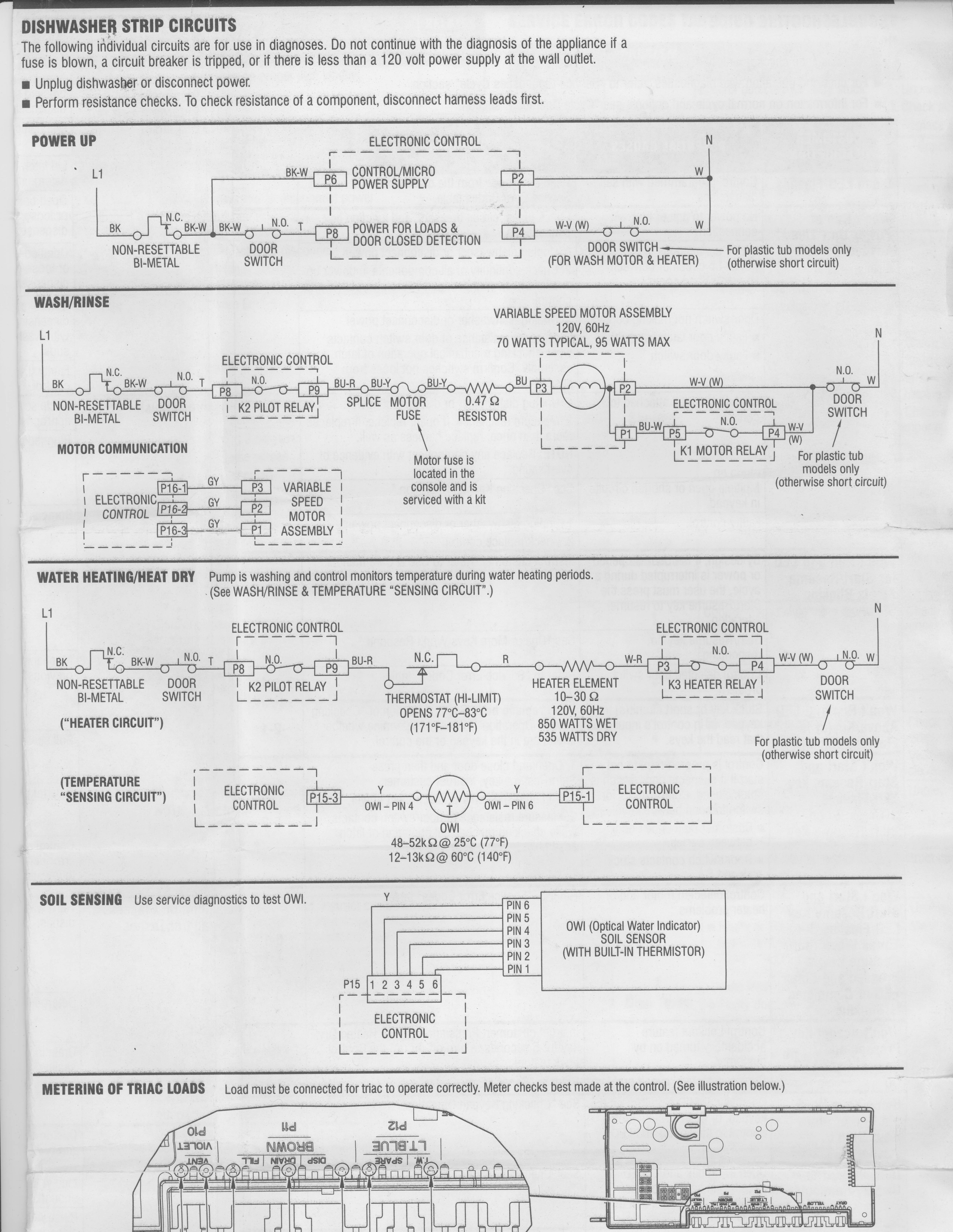 Strip Circuits on Kenmore 665 Dishwasher Wiring Diagram