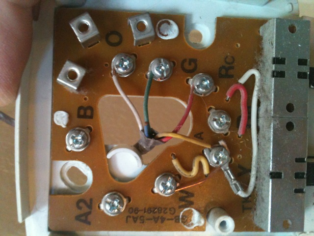 auto coil wiring diagram am installing a rth7600d honeywell thermostat and have a ...