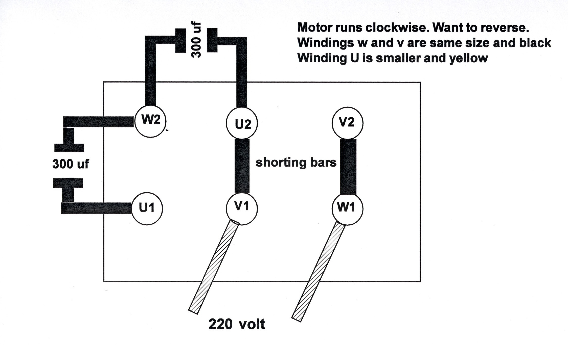 U1 Wiring Danelectro Baritone Diagram I Have A Yl100 2 220 Motor It Is Currently Set To Run