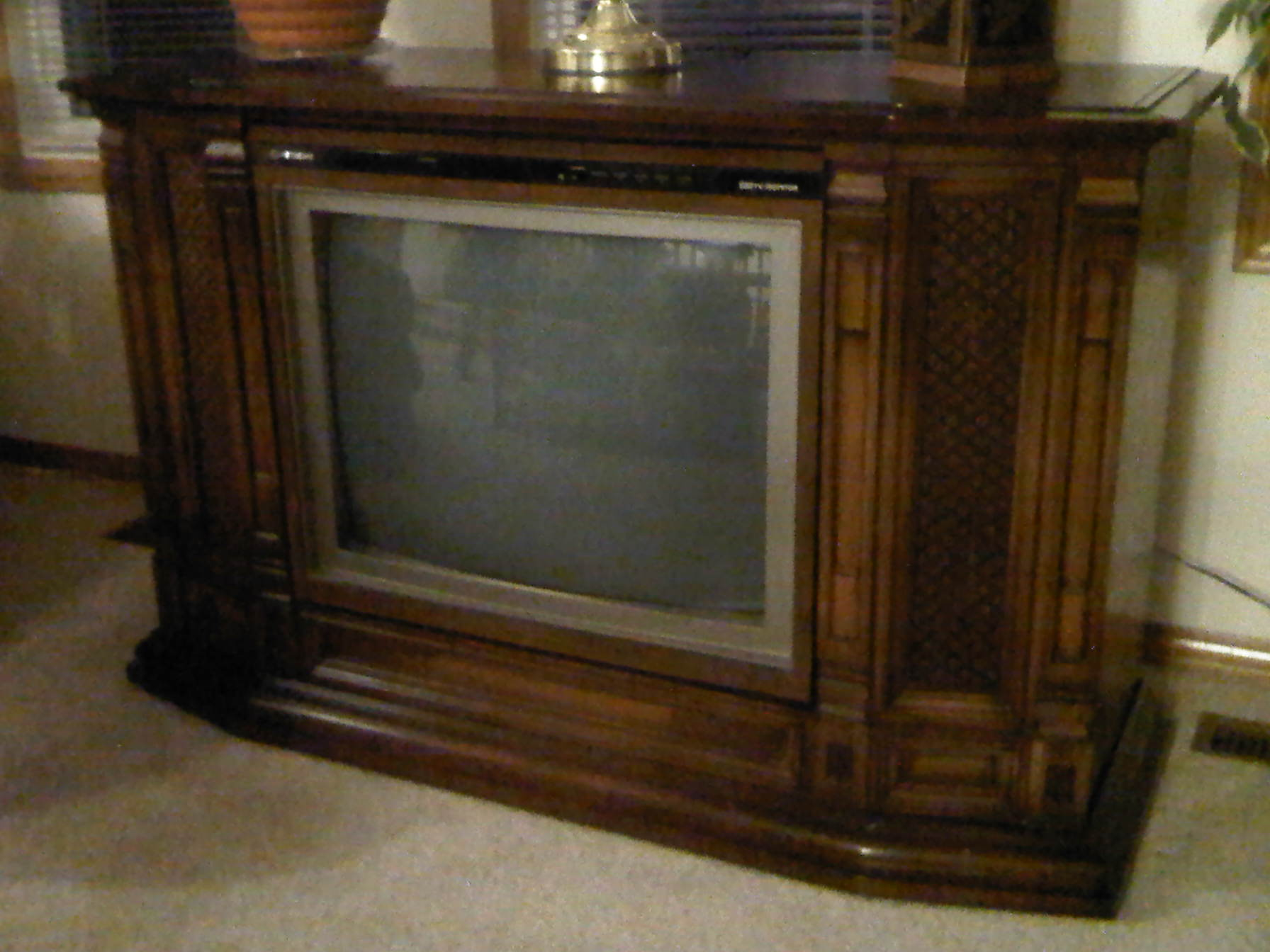 Greatest Old Wooden Tv Console At Oy53 Roccommunity