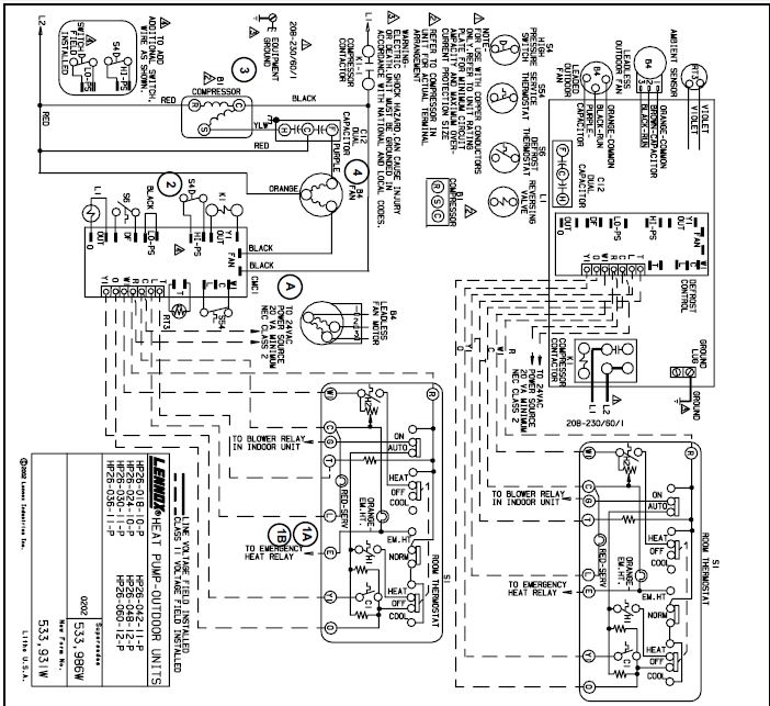 lennox heat a air conditioners wiring diagram payne air conditioners wiring schematics