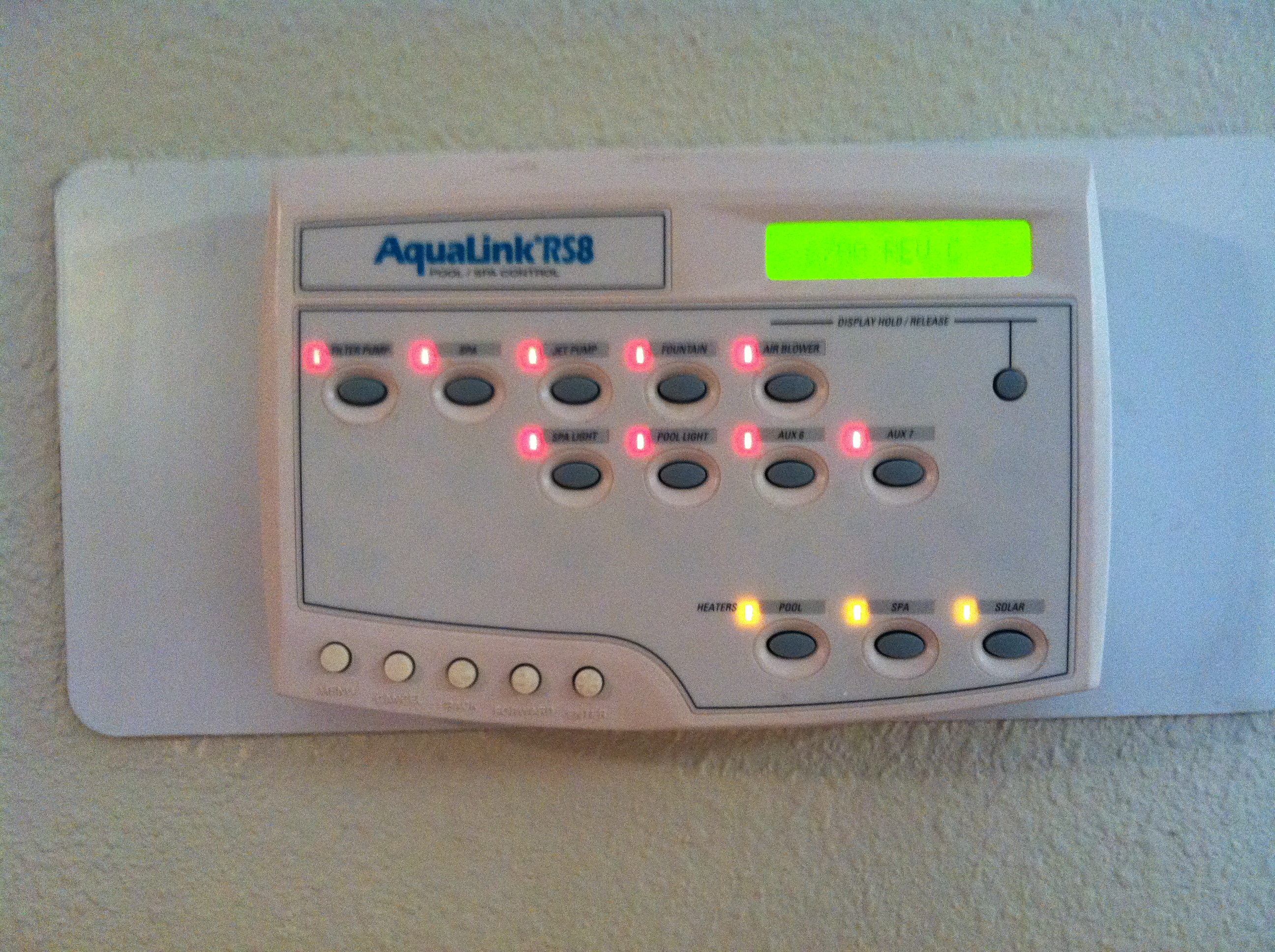 aqualink rs pool control center not communicating with main. Black Bedroom Furniture Sets. Home Design Ideas