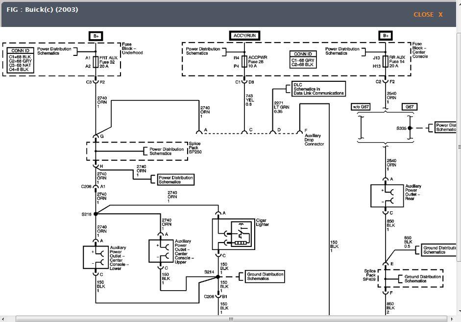 2002 buick rendezvous electrical diagrams | autos weblog