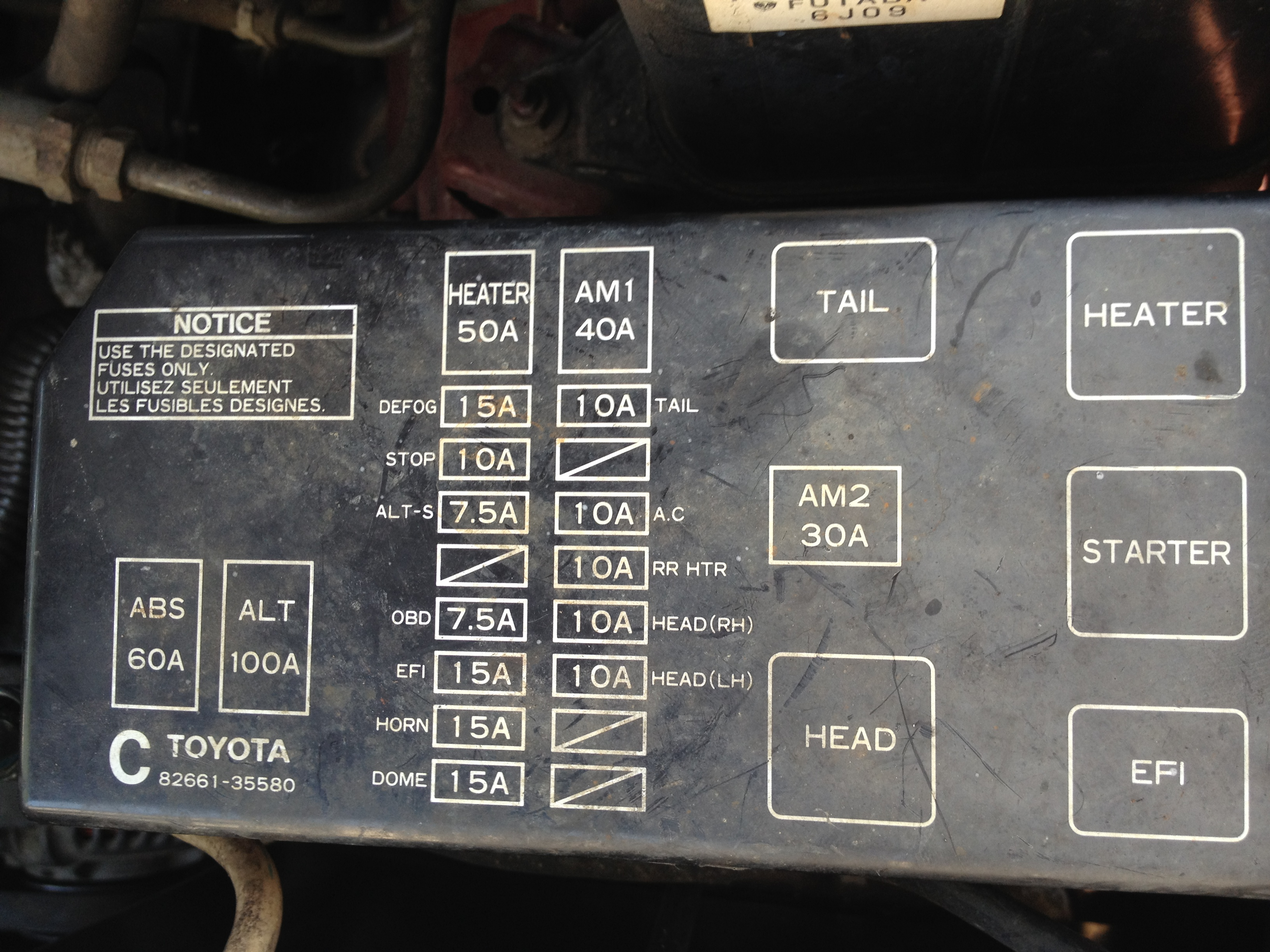 2000 Toyota 4runner Fuse Box Diagram Trusted Wiring Diagrams 1997 Corolla 1996 Pics