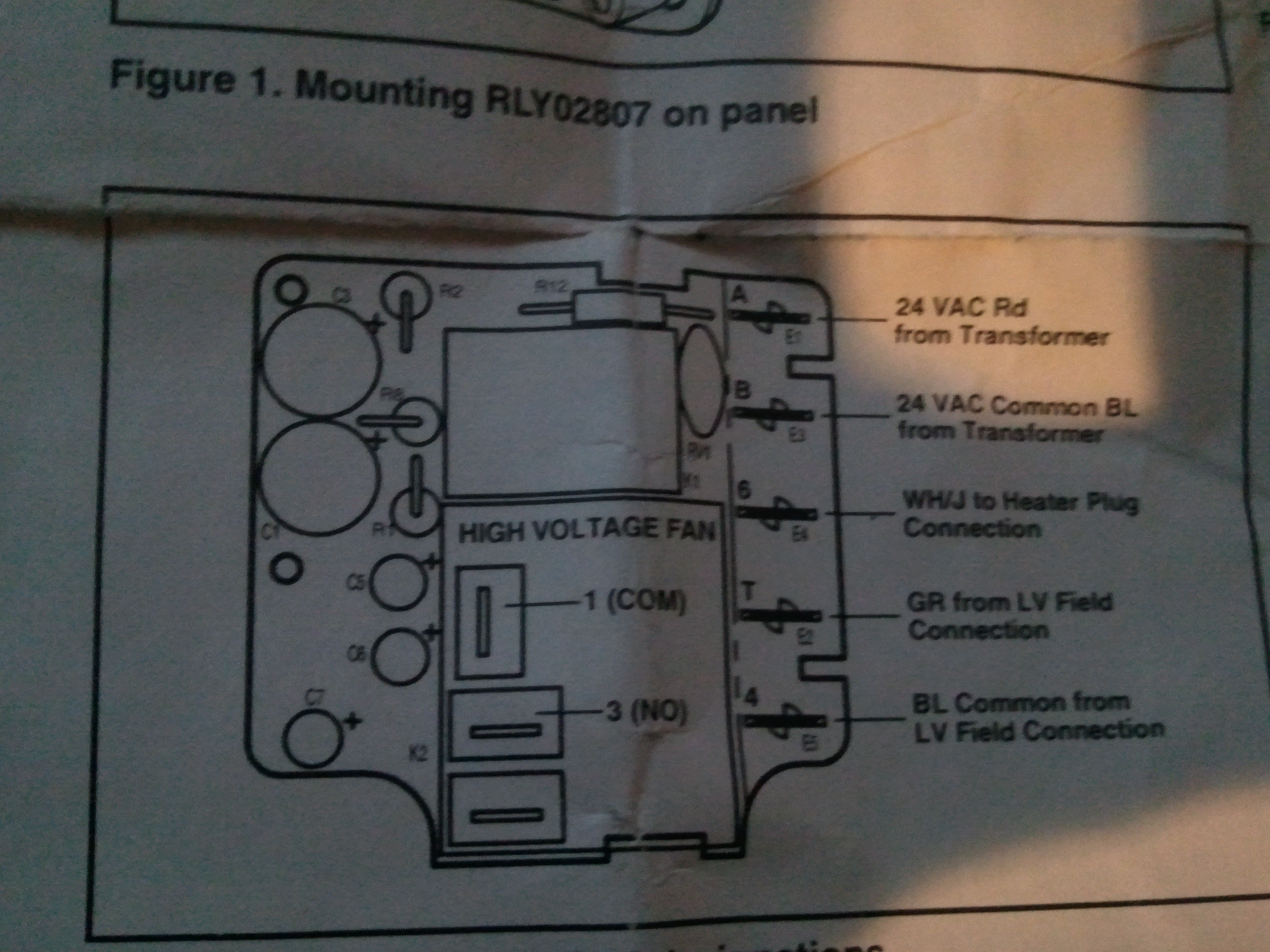 wire diagram for timer switch i am having trouble wiring a rly02807 time delay relay on a