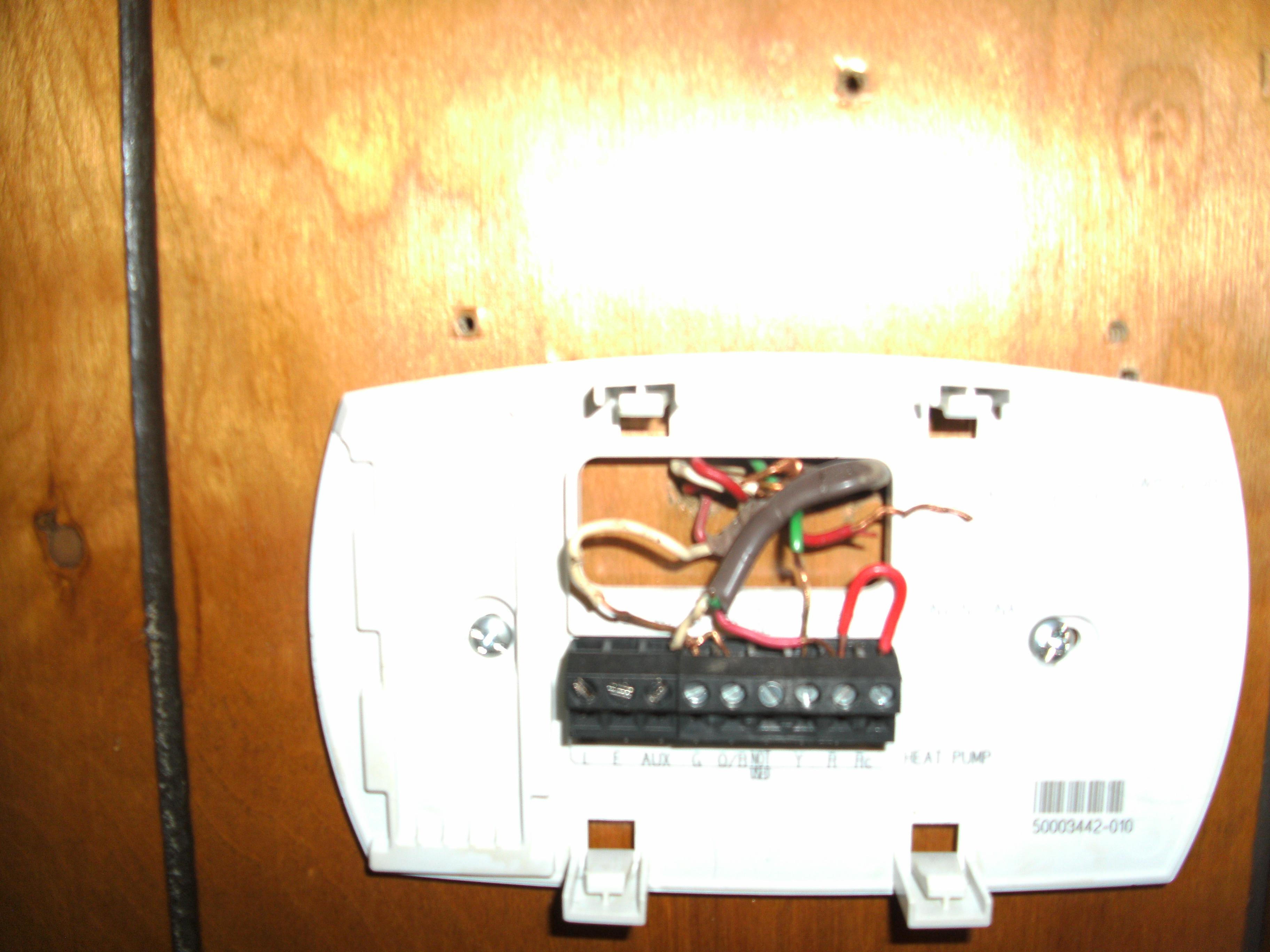 have a honeywell rth6350 wired as follows wires not original Honeywell RTH6350 Thermostat Manual 2013 06 29 200210 075