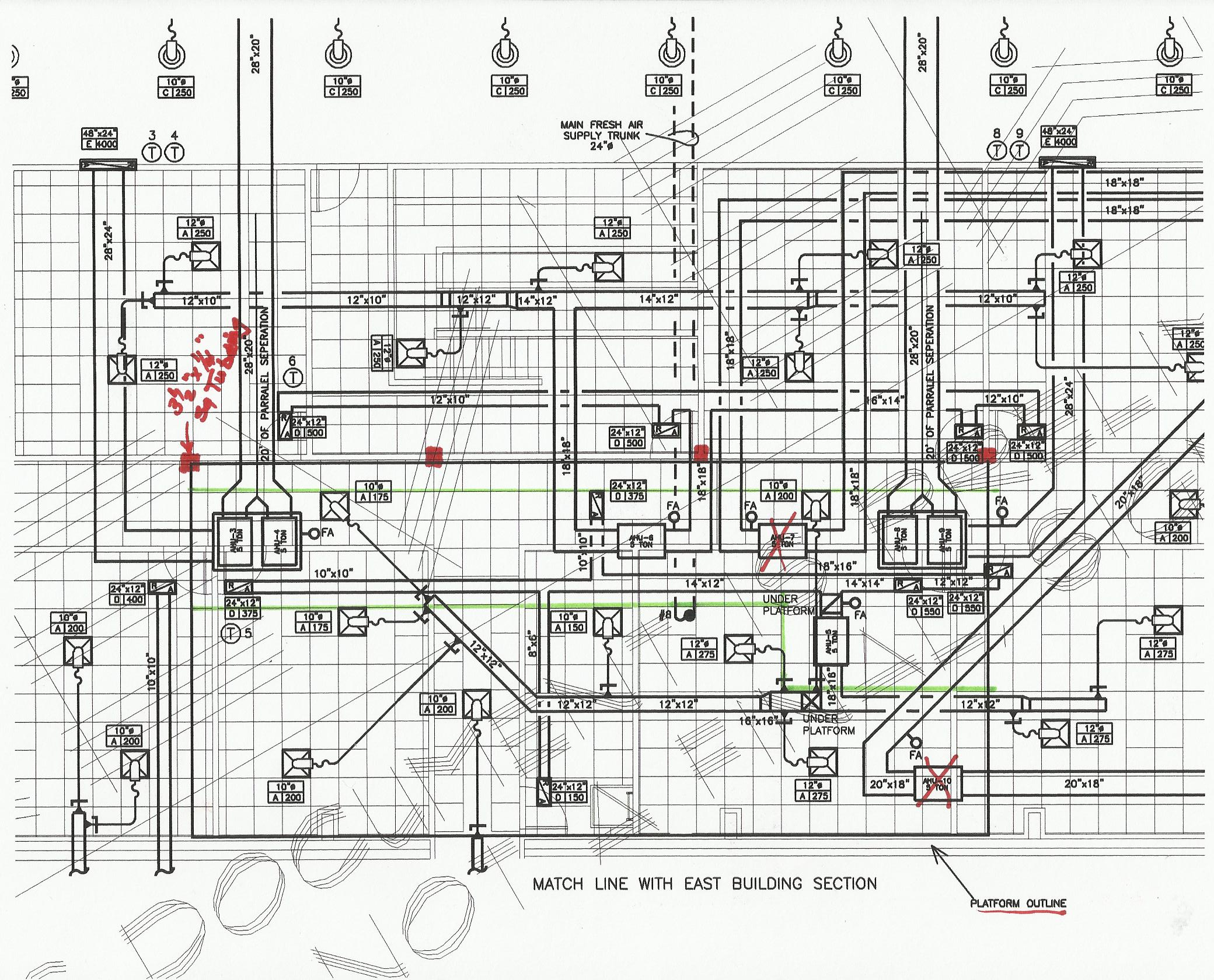 Mechanical Hvac Drawings Drawing Of