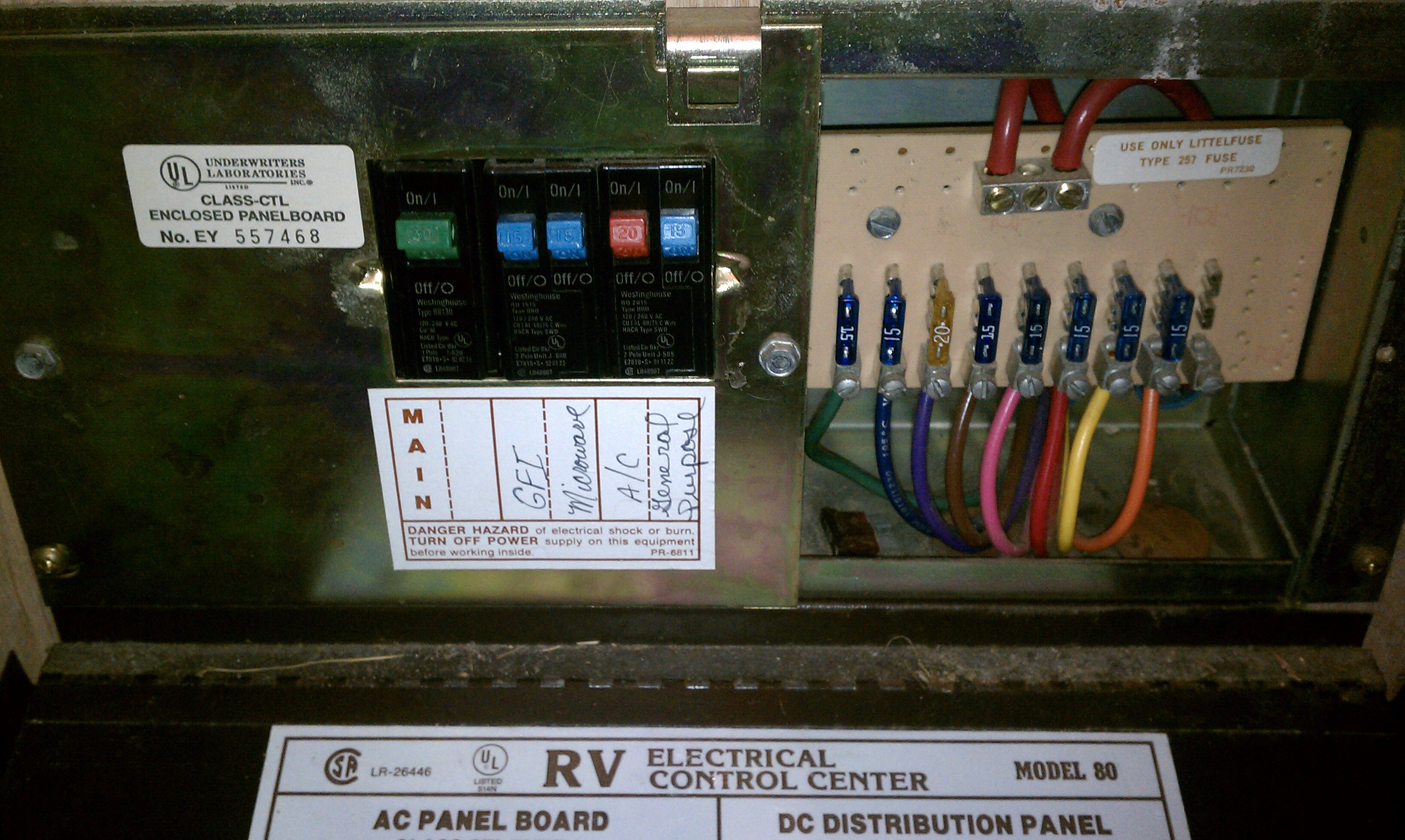 Rv Fuse Box Wiring Diagram Schematics Relay Enclosure Schemes Georgetown 364 12 Volt