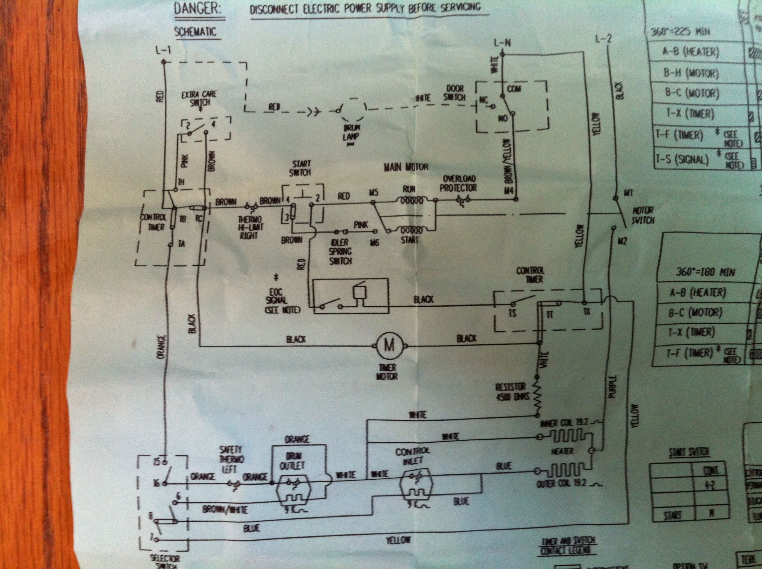 8528187 Dryer Wiring Diagram Residential Whirlpool Laundry Parts