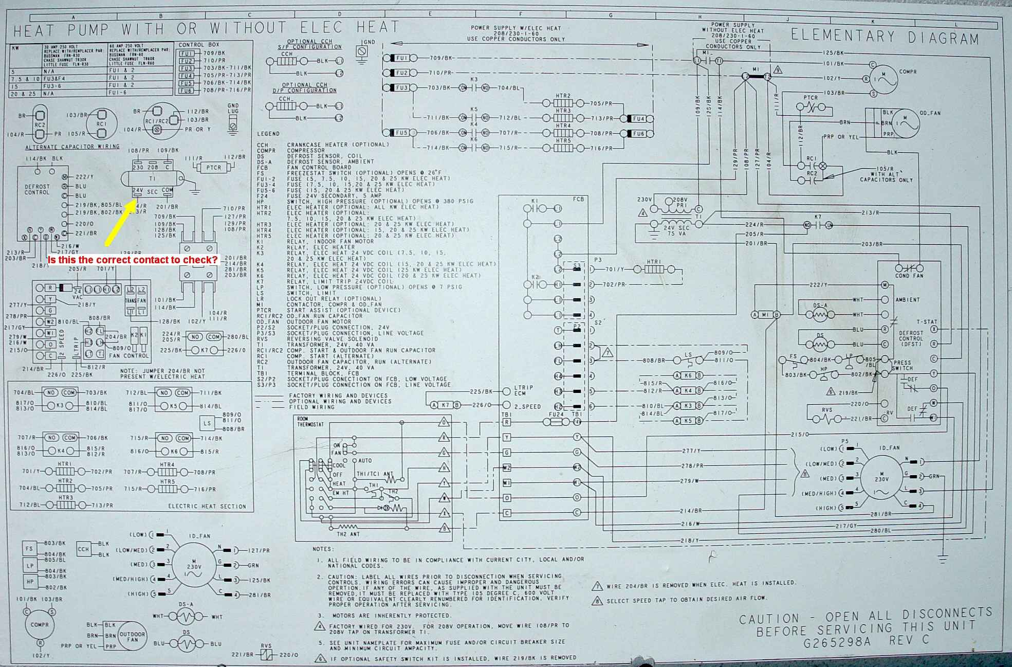 york wiring schematics i have a relatively new york heat pump that was installed to #6