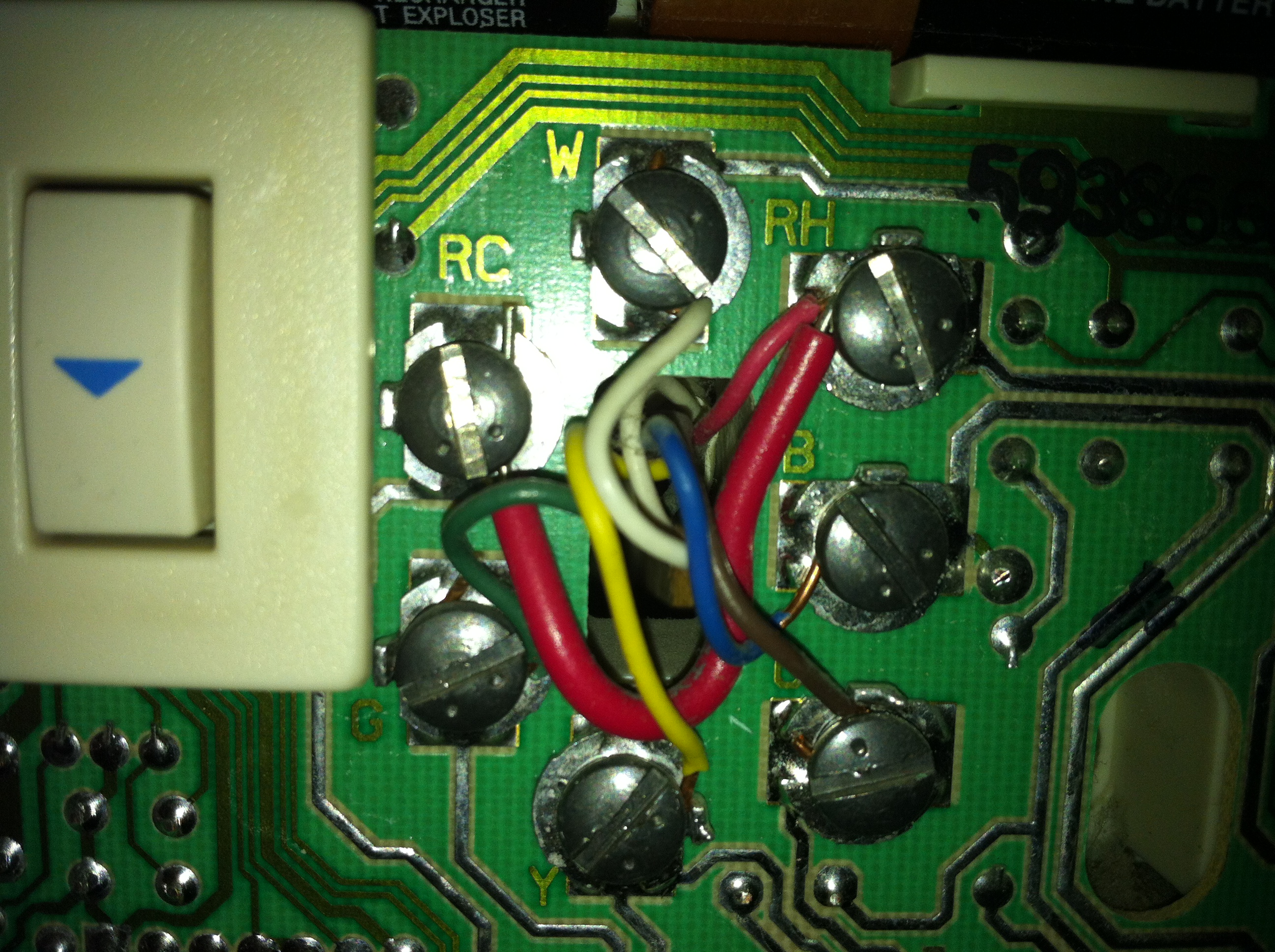 4 wire honeywell thermostat wiring diagram honeywell ct87n