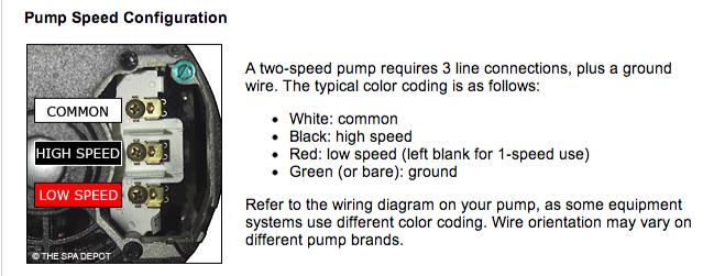 Spa Pump: Spa Pump Wiring on