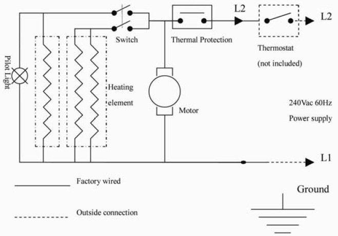 electric heater wiring diagrams  farmall h 6 volt generator