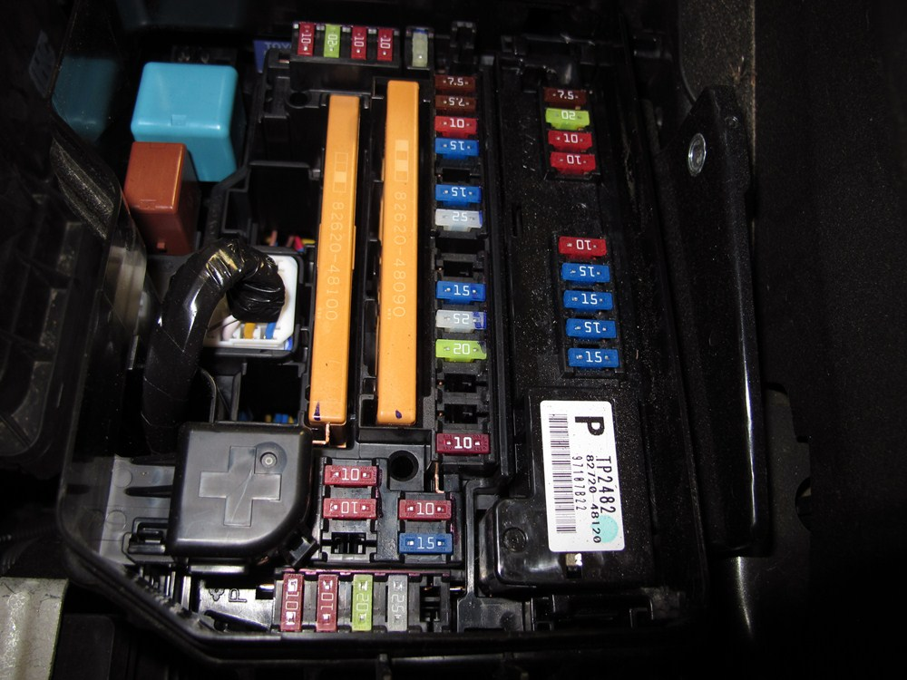 2008 Toyota Highlander Fuse Box Location