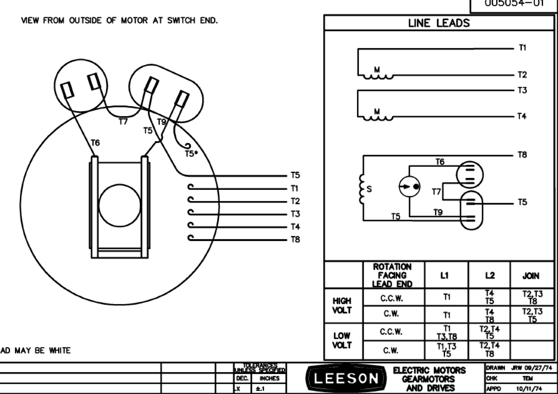 Leeson 110 220 Wiring Schematic Opinions About Diagram Switch I Have A Electrical Ac Motor Model C6k17fk2h The Info Volt Plug Types Motors Diagrams