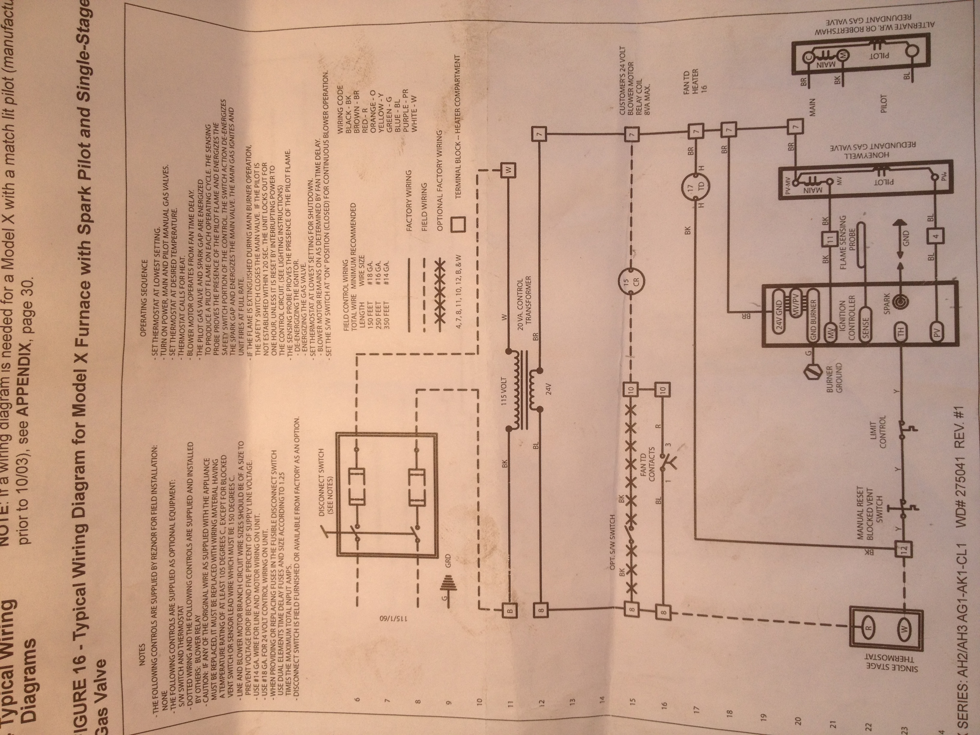 Singer Electric Furnace Wiring Diagram Reznor Blower 1977 Starting Know About Heater Wont Re Fire