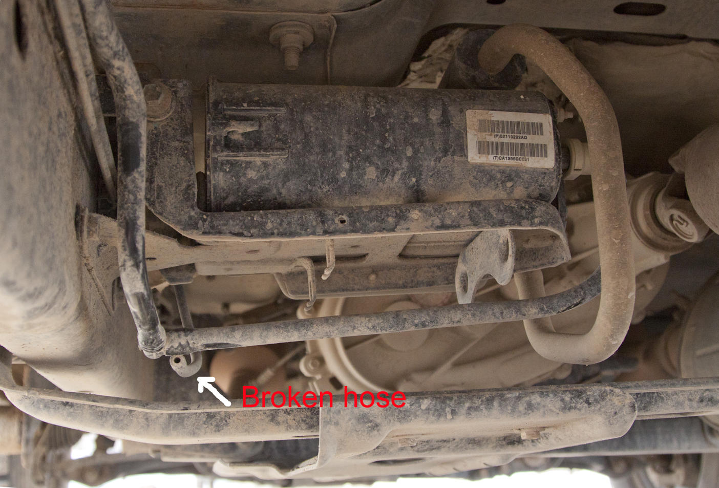 hhr fuel filter location