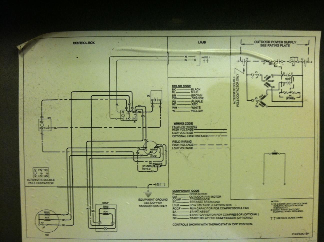 i have a goodman model gsc130421ac the contactor wont draw. Black Bedroom Furniture Sets. Home Design Ideas