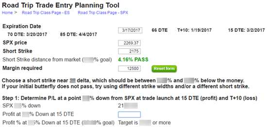 Road Trip Trade Entry Planning Tool Image