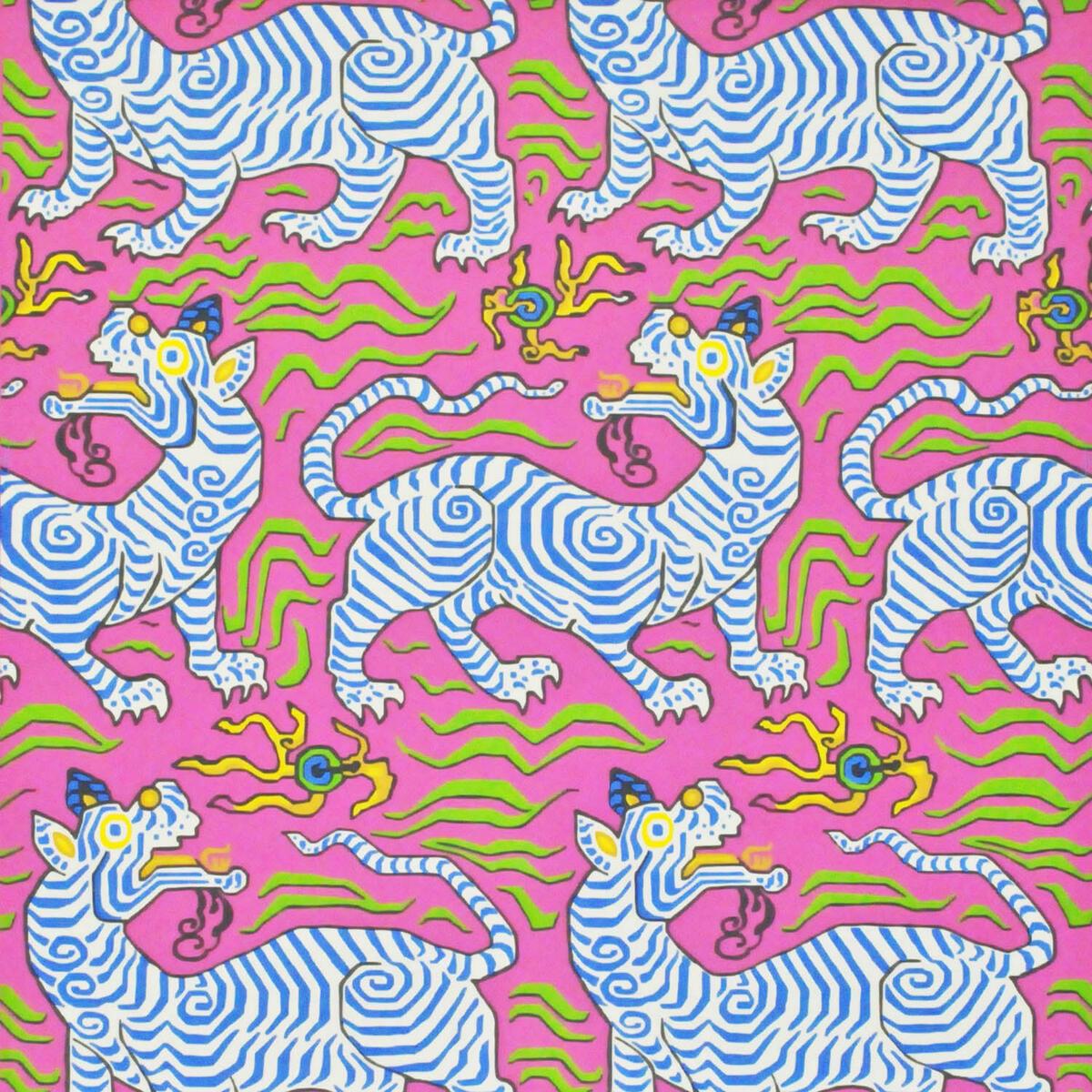 Tibet Wallpaper Hot Pink