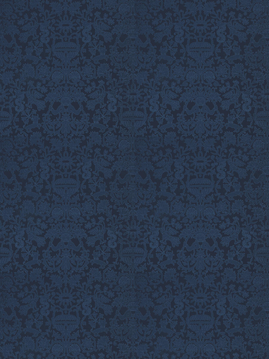 Heraklion Damask Blue Agate