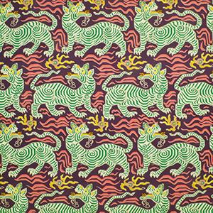 Tibet Print Aubergine