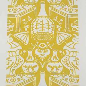 The Vase Yellow / White