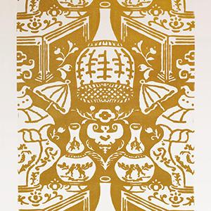 The Vase Gold Metallic
