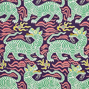 Tibet Wallpaper Aubergine