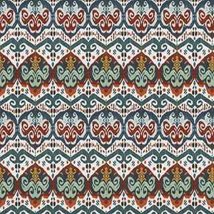 Indonesian Ikat Teal Spice