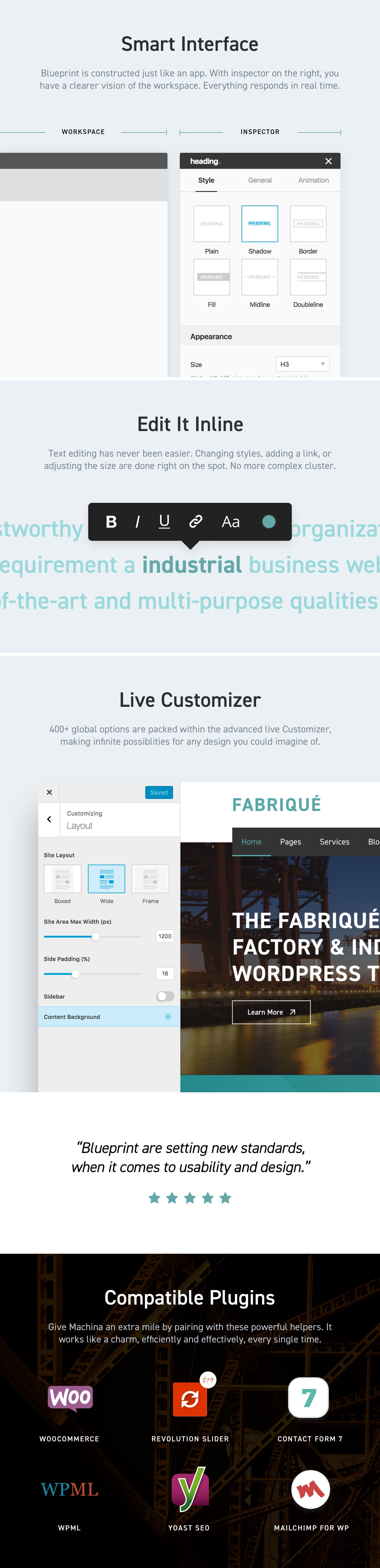 Fabriqu factory industrial business wordpress theme by twisttheme fabriqu is a state of the art multi purpose wordpress theme meticulously designed to cater to factory and manufacturing industry related websites malvernweather Choice Image