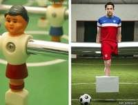 Josh Sundquist as a foosball player