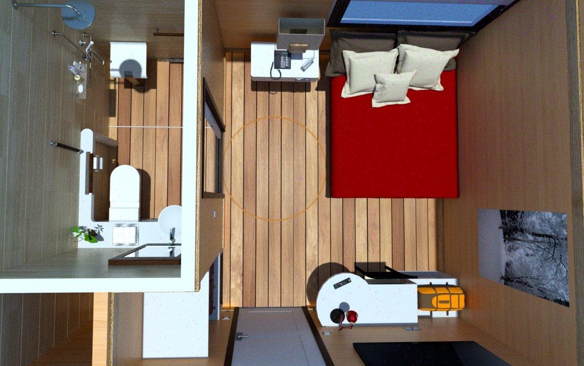 Faces of spina bifida award winning designer seeks hotel for Best small hotel room design