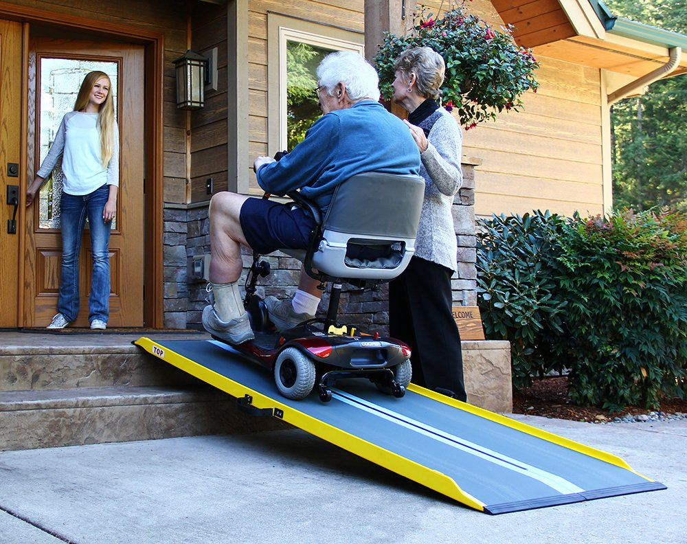 The Suitcase Singlefold GF series uses graphite fiber to make very sturdy ramps that are lighter than aluminum.